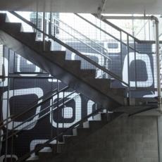Black white vinyl staircase-2