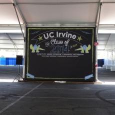 UC Irvine Graduation Chalkboard Banner