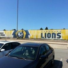 Vanguard Lions Mesh Fence Banner