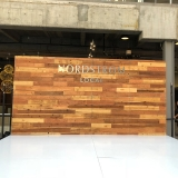 Nordstrom-Reclaimed-wood-wall-with-Silver-Dimensional-Branding