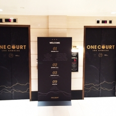 Elevator Wrap for One Court Event